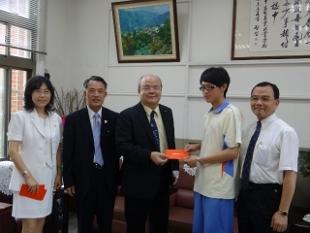 賀!園藝3乙黃盛年同學榮獲獎金1萬元