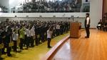 學生會會長帶領學生供同宣誓