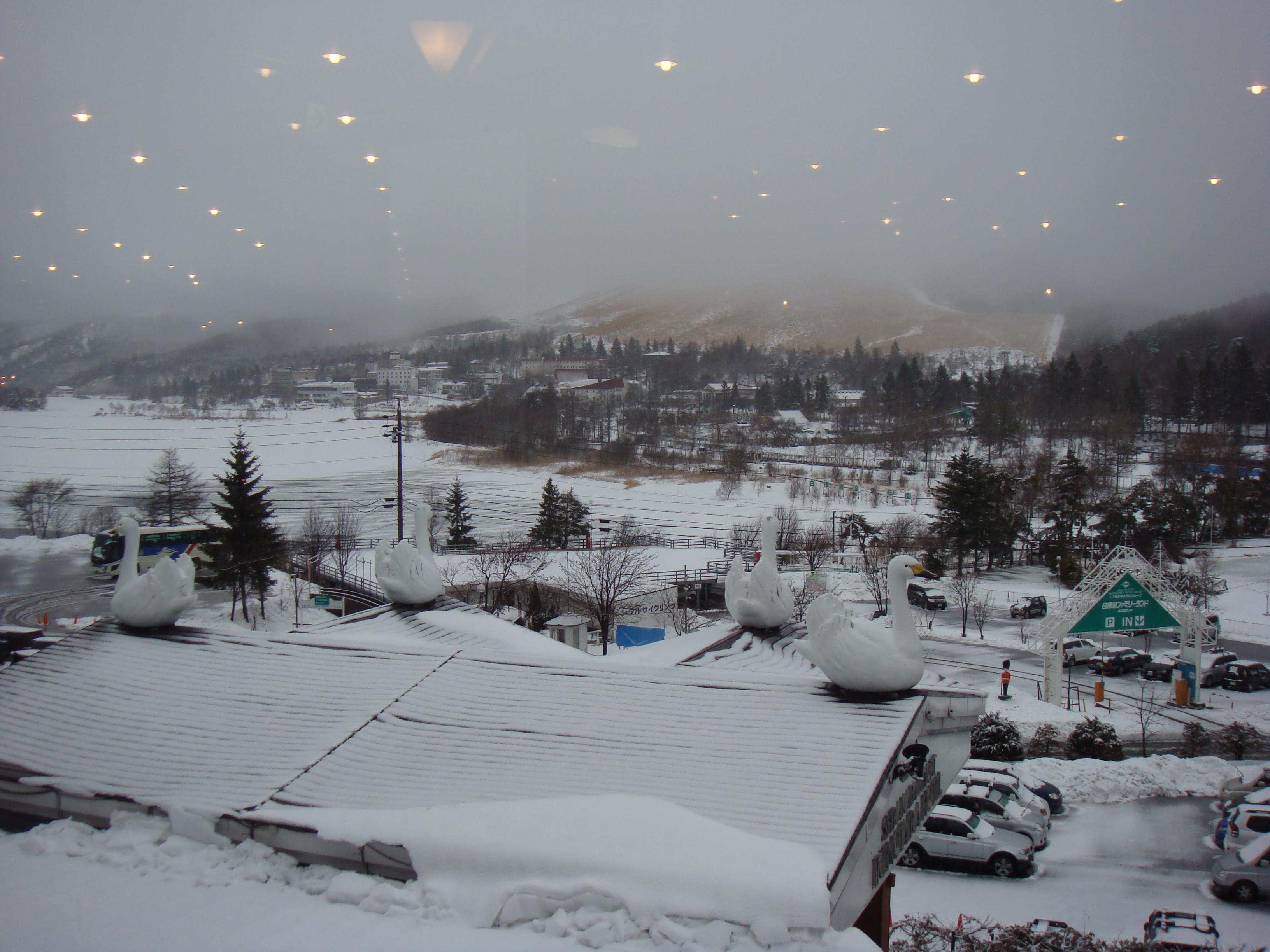 白樺湖的美麗雪景