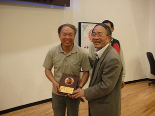 詹益順老師榮獲農教學會表揚